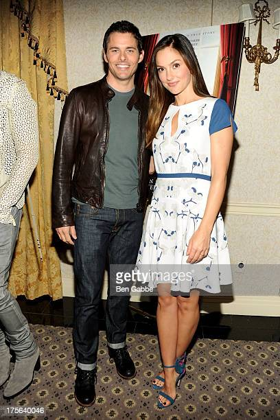 Actor James Marsden and actress Minka Kelly attend the press conference for The Weinstein Company's LEE DANIELS' THE BUTLER at Waldorf Astoria Hotel...