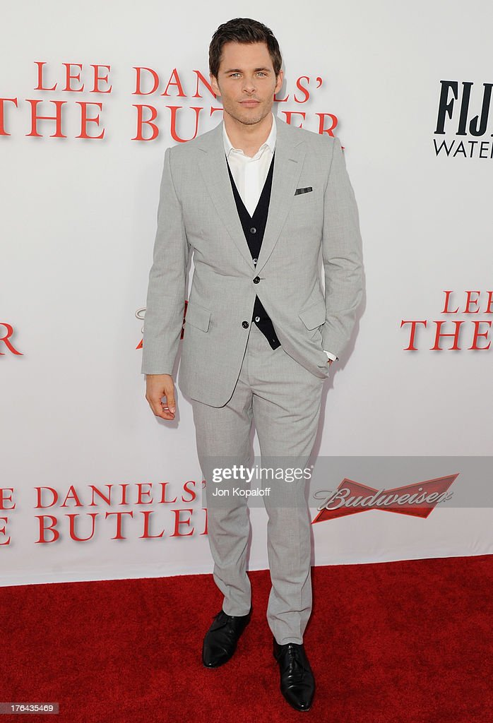 Actor <a gi-track='captionPersonalityLinkClicked' href=/galleries/search?phrase=James+Marsden&family=editorial&specificpeople=206902 ng-click='$event.stopPropagation()'>James Marsden</a> arrives at the Los Angeles Premiere 'Lee Daniels' The Butler' at Regal Cinemas L.A. Live on August 12, 2013 in Los Angeles, California.