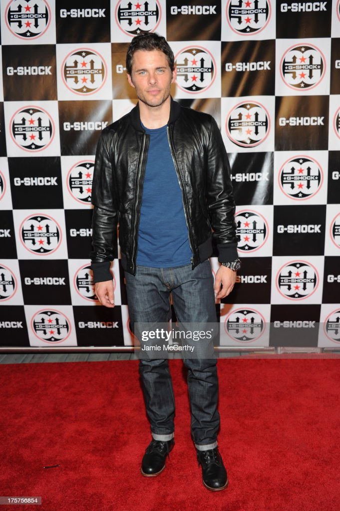 Actor James Marsden attends G-Shock Shock The World 2013 at Basketball City on August 7, 2013 in New York City.