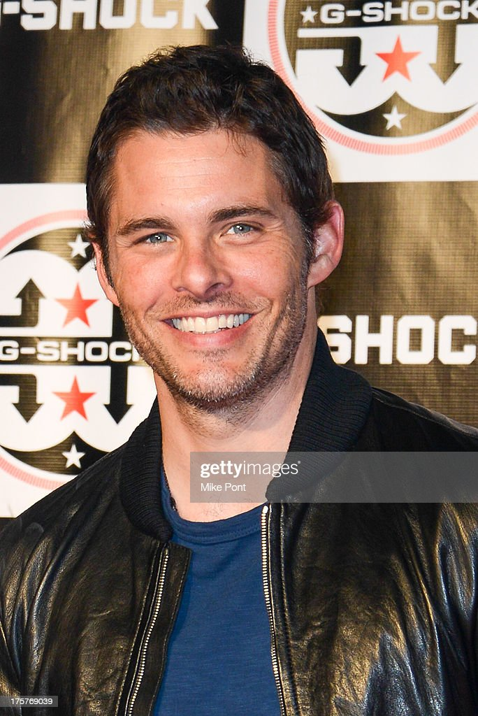 Actor <a gi-track='captionPersonalityLinkClicked' href=/galleries/search?phrase=James+Marsden&family=editorial&specificpeople=206902 ng-click='$event.stopPropagation()'>James Marsden</a> attends G-Shock - Shock The World 2013 at Basketball City - Pier 36 - South Street on August 7, 2013 in New York City.