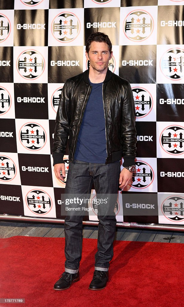 Actor James Marsden attends G-Shock - Shock The World 2013 at Basketball City - Pier 36 - South Street on August 7, 2013 in New York City.
