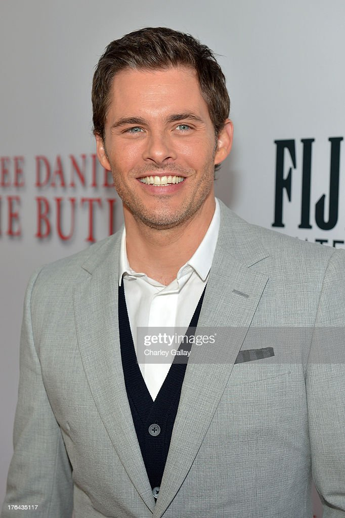 Actor <a gi-track='captionPersonalityLinkClicked' href=/galleries/search?phrase=James+Marsden&family=editorial&specificpeople=206902 ng-click='$event.stopPropagation()'>James Marsden</a> attends LEE DANIELS' THE BUTLER Los Angeles premiere, hosted by TWC, Budweiser and FIJI Water, Purity Vodka and Stack Wines, held at Regal Cinemas L.A. Live on August 12, 2013 in Los Angeles, California.