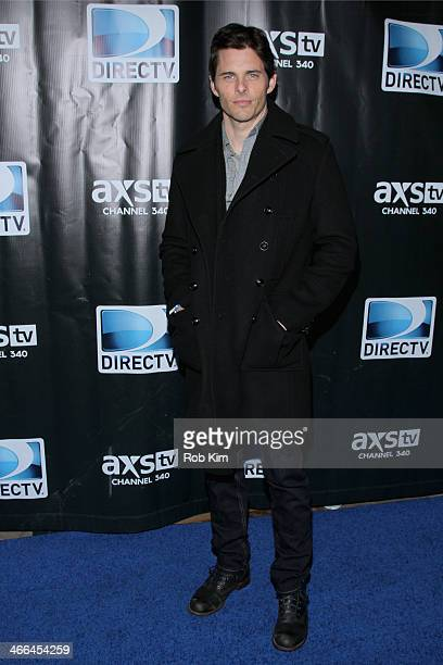 Actor James Marsden attends the DirecTV Super Saturday Night at Pier 40 on February 1 2014 in New York City