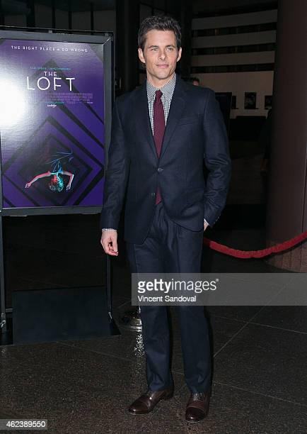 Actor James Marsden attends the Los Angeles special screening of 'The Loft' at Directors Guild Of America on January 27 2015 in Los Angeles California