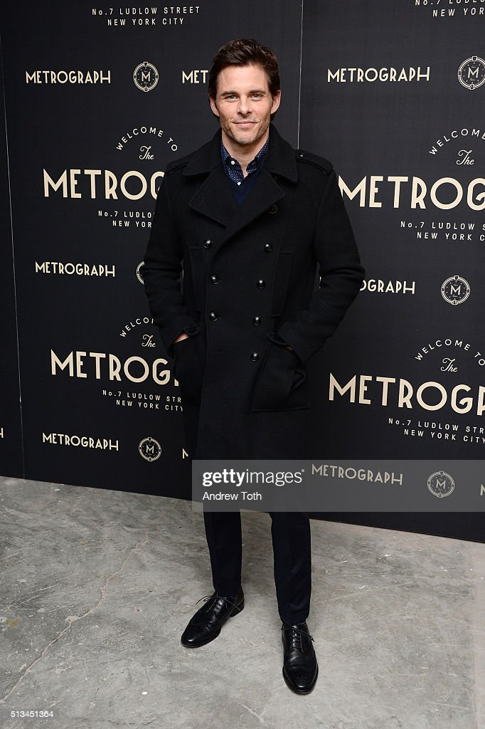 Actor James Marsden attends the Metrograph opening night at Metrograph on March 2, 2016 in New York City.