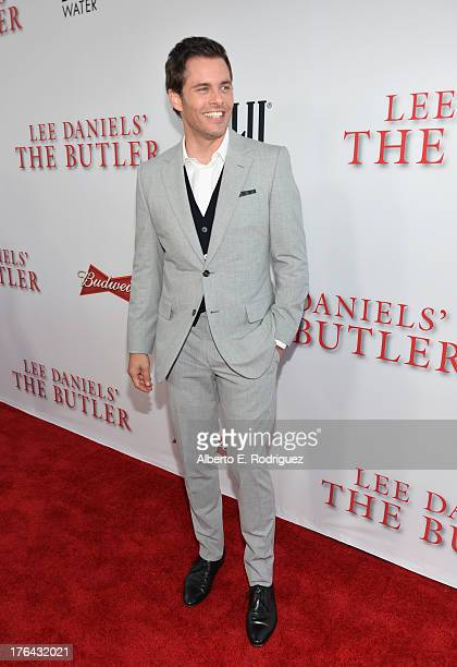 Actor James Marsden attends the Premiere Of The Weinstein Company's 'Lee Daniels' The Butler' at Regal Cinemas LA Live on August 12 2013 in Los...