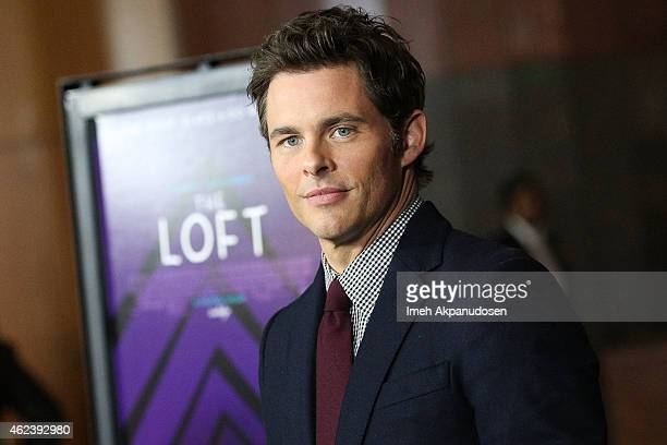 Actor James Marsden attends the screening of Open Road Films' 'The Loft' at Directors Guild Of America on January 27 2015 in Los Angeles California