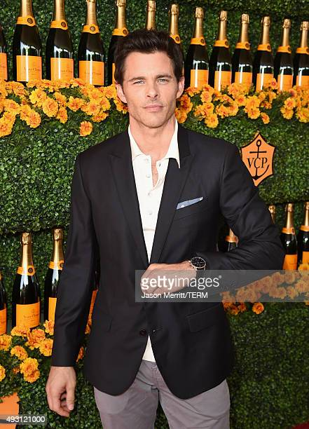 Actor James Marsden attends the SixthAnnual Veuve Clicquot Polo Classic at Will Rogers State Historic Park on October 17 2015 in Pacific Palisades...