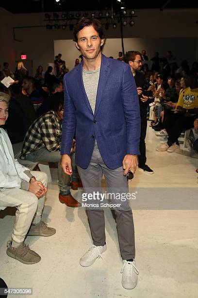 Actor James Marsden attends the Todd Snyder fashion show during New York Fashion Week Men's S/S 2017 at Skylight Clarkson Sq on July 14 2016 in New...
