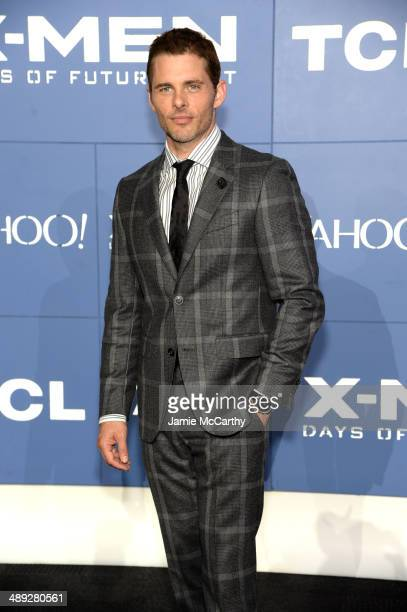 Actor James Marsden attends the 'XMen Days Of Future Past' world premiere at Jacob Javits Center on May 10 2014 in New York City