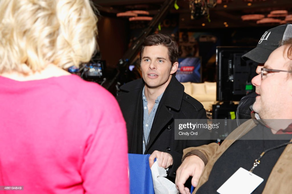 Actor James Marsden seen around SiriusXM at Super Bowl XLVIII Radio Row on January 31, 2014 in New York City.