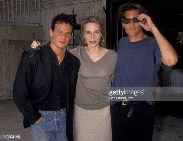 Actor James Marshall actress Peggy Lipton and actor Dana Ashbrook attend ABC Affiliates Press Tour on July 22 1990 at the Century Plaza Hotel in...