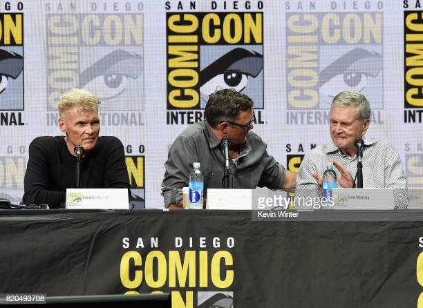 Actor James Marshall Everett McGill and Matthew Lillard attend 'Twin Peaks A Damn Good Panel' during ComicCon International 2017 at San Diego...