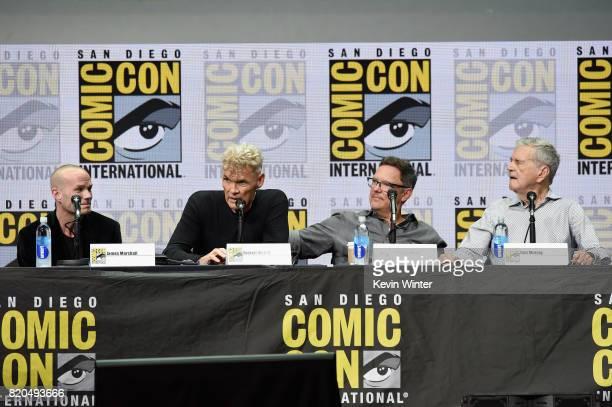 Actor James Marshall Everett McGill Matthew Lillard and Don Murray attend 'Twin Peaks A Damn Good Panel' during ComicCon International 2017 at San...