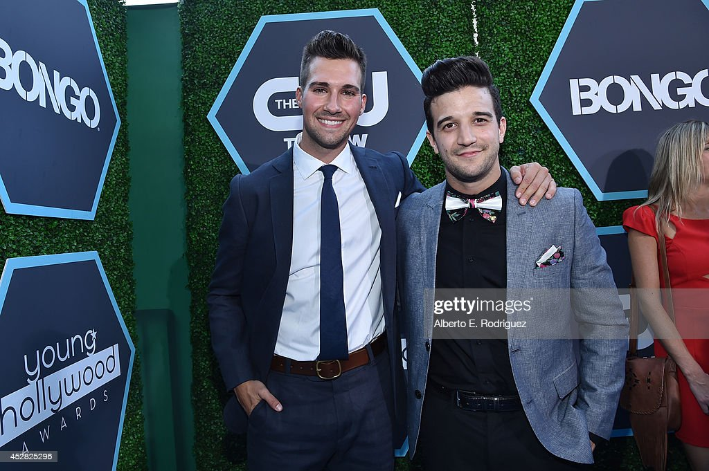 Actor <a gi-track='captionPersonalityLinkClicked' href=/galleries/search?phrase=James+Maslow&family=editorial&specificpeople=6522849 ng-click='$event.stopPropagation()'>James Maslow</a> and singer <a gi-track='captionPersonalityLinkClicked' href=/galleries/search?phrase=Mark+Ballas&family=editorial&specificpeople=4531129 ng-click='$event.stopPropagation()'>Mark Ballas</a> (R) attend the 2014 Young Hollywood Awards brought to you by Samsung Galaxy at The Wiltern on July 27, 2014 in Los Angeles, California.