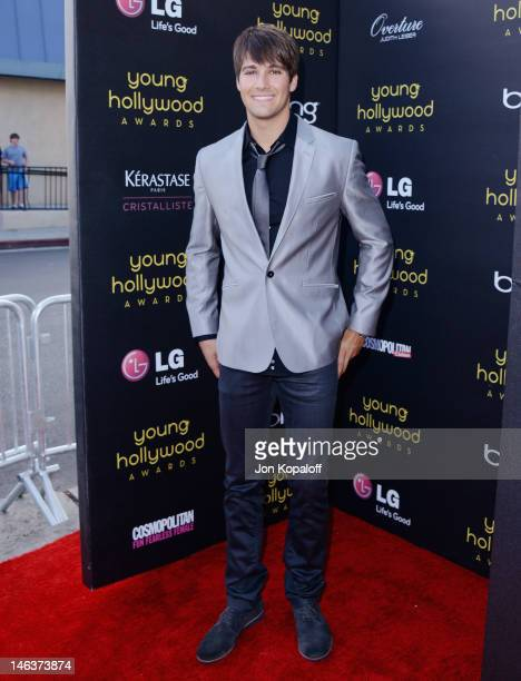 Actor James Maslow arrives at the Young Hollywood Awards at Hollywood Athletic Club on June 14 2012 in Hollywood California