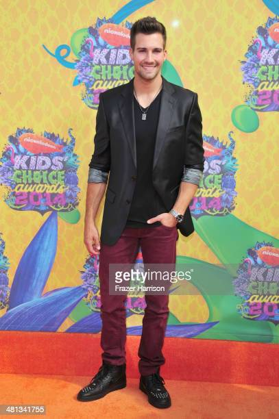 Actor James Maslow attends Nickelodeon's 27th Annual Kids' Choice Awards held at USC Galen Center on March 29 2014 in Los Angeles California