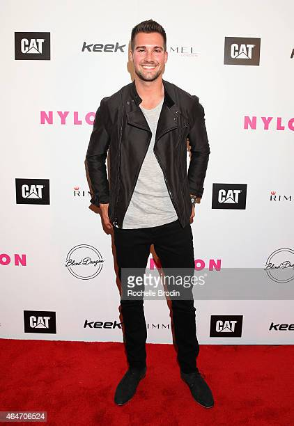 Actor James Maslow attends NYLON Magazine's Spring Fashion Issue Celebration hosted by Rita Ora at Blind Dragon on February 27 2015 in West Hollywood...