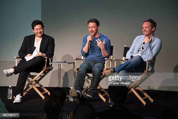 Actor James McAvoy and director Jon S Baird attend 'Meet The Filmmakers' on May 20 2014 in New York United States