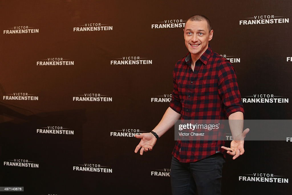 Actor <a gi-track='captionPersonalityLinkClicked' href=/galleries/search?phrase=James+McAvoy&family=editorial&specificpeople=647005 ng-click='$event.stopPropagation()'>James McAvoy</a> attends a photo call and press conference to promote the new film 'Victor Frankenstein' at Four Seasons hotel on November 14, 2015 in Mexico City, Mexico.