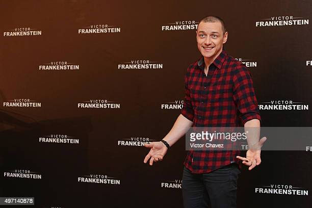 Actor James McAvoy attends a photo call and press conference to promote the new film 'Victor Frankenstein' at Four Seasons hotel on November 14 2015...