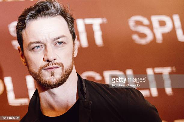 Actor James McAvoy attends a photocall for 'Split' on January 11 2017 in Milan Italy