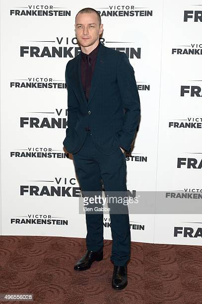 Actor James McAvoy attends the New York Premiere of 'Victor Frankenstein' at Chelsea Bow Tie Cinemas on November 10 2015 in New York City