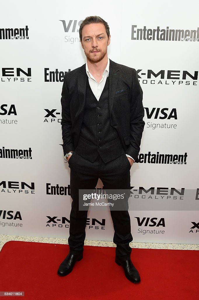 Actor <a gi-track='captionPersonalityLinkClicked' href=/galleries/search?phrase=James+McAvoy&family=editorial&specificpeople=647005 ng-click='$event.stopPropagation()'>James McAvoy</a> attends the 'X-Men Apocalypse' New York screening at Entertainment Weekly on May 24, 2016 in New York City.