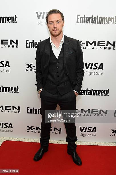 Actor James McAvoy attends the 'XMen Apocalypse' New York screening at Entertainment Weekly on May 24 2016 in New York City