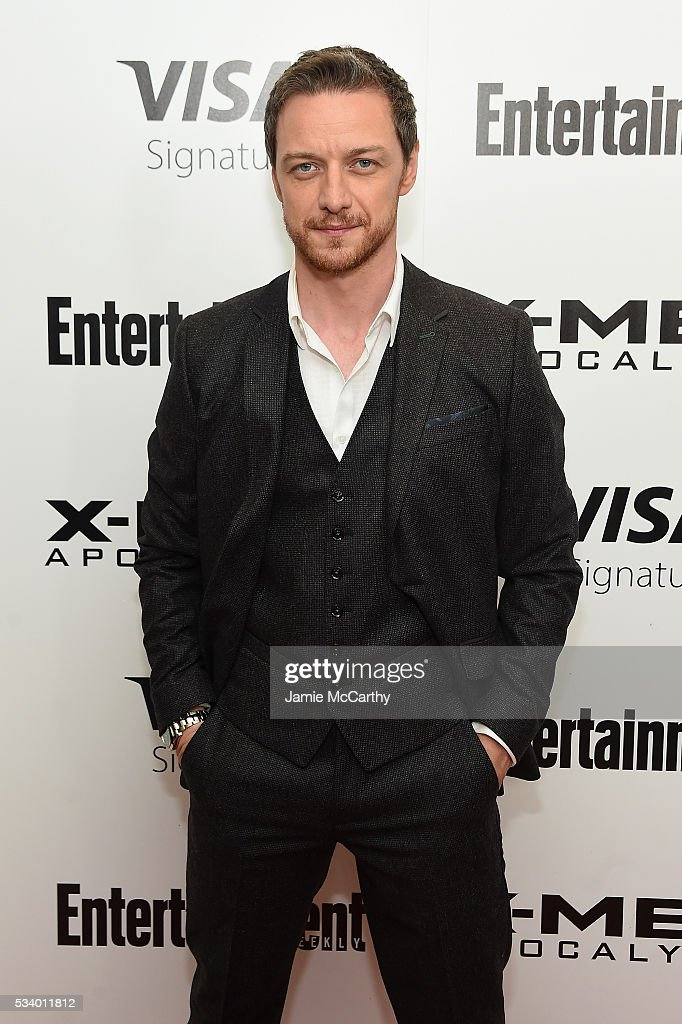 Actor James McAvoy attends the 'X-Men Apocalypse' New York screening at Entertainment Weekly on May 24, 2016 in New York City.