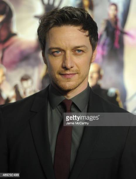 Actor James McAvoy attends the 'XMen Days Of Future Past' world premiere at Jacob Javits Center on May 10 2014 in New York City