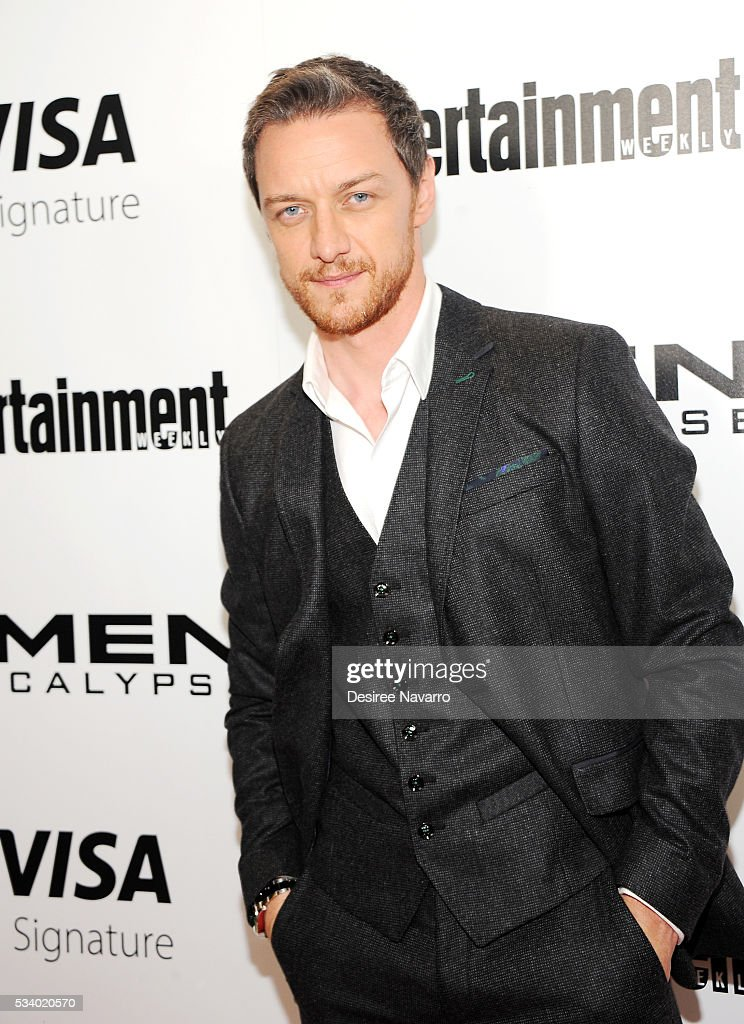 Actor <a gi-track='captionPersonalityLinkClicked' href=/galleries/search?phrase=James+McAvoy&family=editorial&specificpeople=647005 ng-click='$event.stopPropagation()'>James McAvoy</a> attends 'X-Men Apocalypse' New York Screening at Entertainment Weekly on May 24, 2016 in New York City.