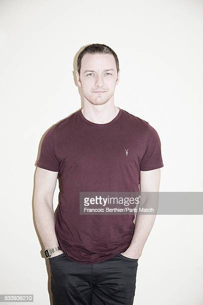 Actor James McAvoy is photographed for Paris Match on April 6 2016 in Paris France