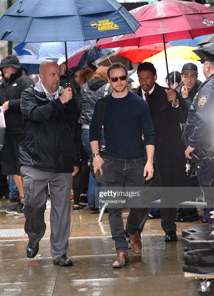 Actor <a gi-track='captionPersonalityLinkClicked' href=/galleries/search?phrase=James+McAvoy&family=editorial&specificpeople=647005 ng-click='$event.stopPropagation()'>James McAvoy</a> is seen arriving on the set of 'Good Morning America' on May 24, 2016 in New York City.