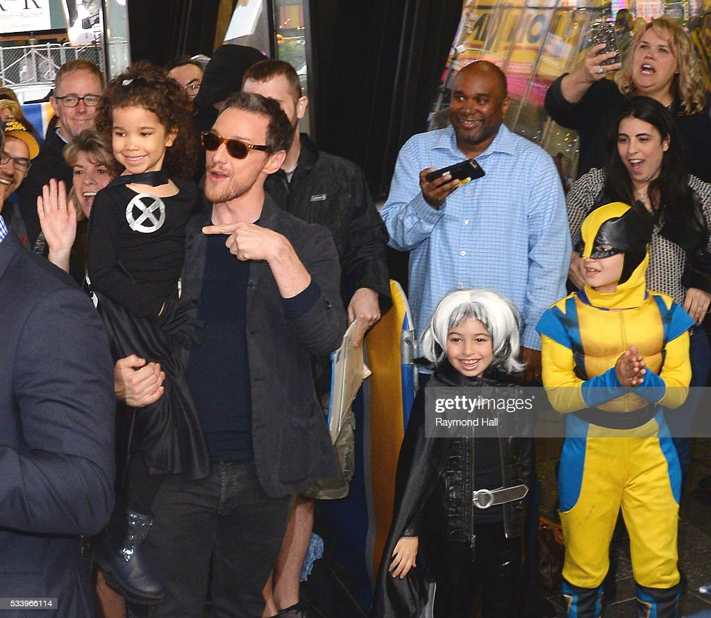 Actor <a gi-track='captionPersonalityLinkClicked' href=/galleries/search?phrase=James+McAvoy&family=editorial&specificpeople=647005 ng-click='$event.stopPropagation()'>James McAvoy</a> is seen on the set of 'Good Morning America' on May 24, 2016 in New York City.