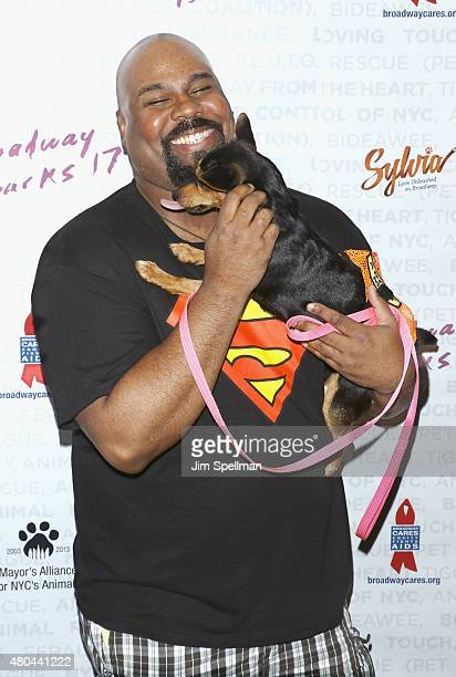 Actor James Monroe Iglehart attends the Broadway Barks 17 at Shubert Alley on July 11 2015 in New York City
