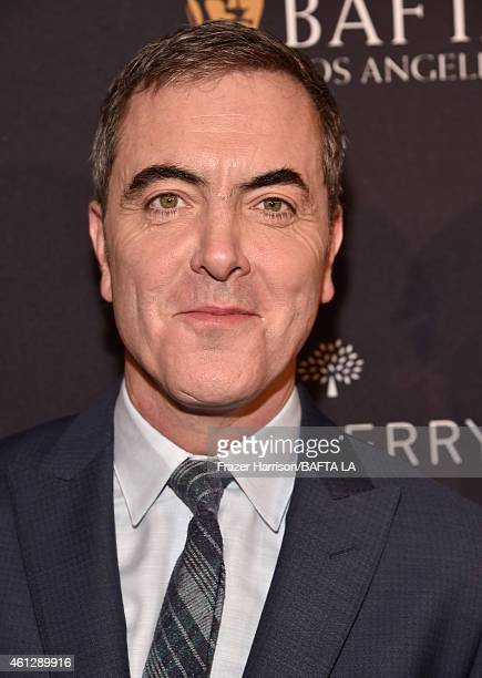 Actor James Nesbitt in Mulberry attends the BAFTA Los Angeles Tea Party at The Four Seasons Hotel Los Angeles At Beverly Hills on January 10 2015 in...