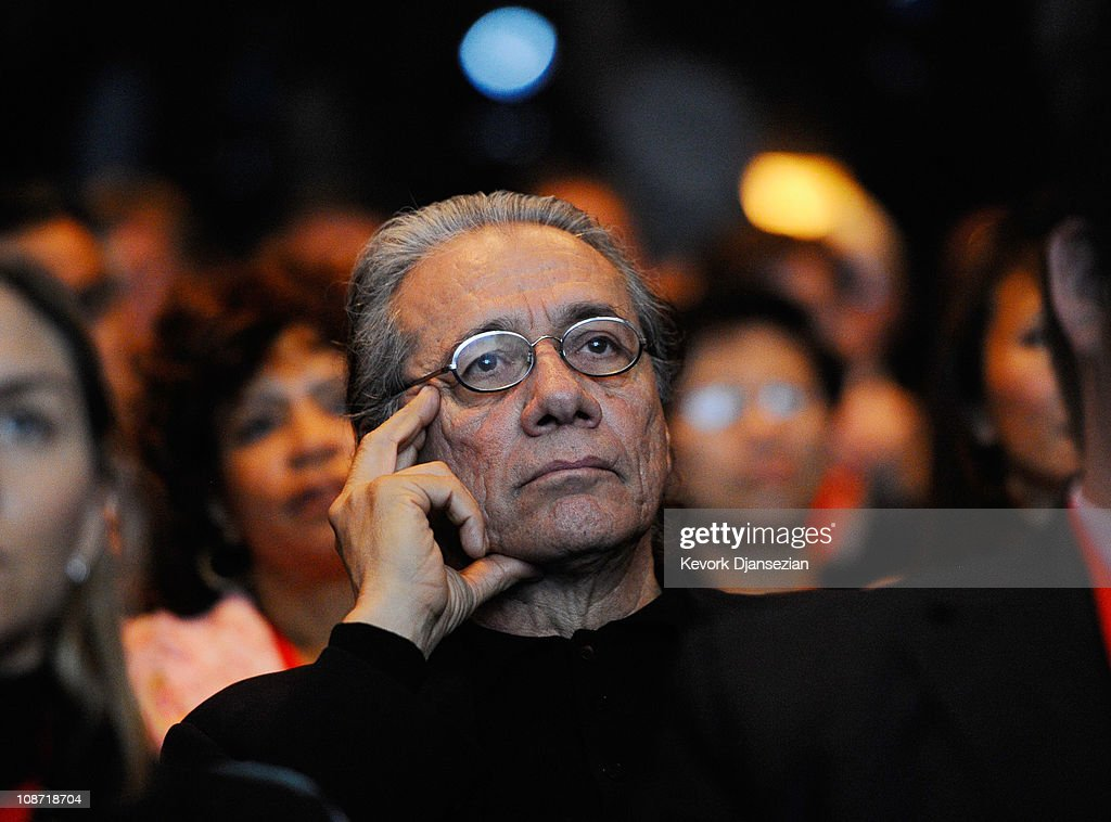Actor James Olmos attends an event announcing naming rights for the new football stadium Farmers Field at Los Angeles Convention Center on February 1, 2011 in Los Angeles, California. AEG has reportedly sold the naming rights for the proposed stadium to Farmers Insurance Exchange for $650,000, calling the stadium 'Farmers Field.'