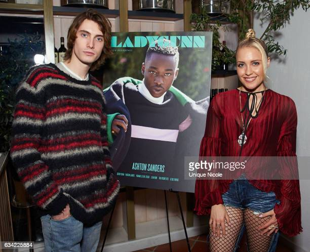 Actor James Paxton and recording artist Eden Xo attends LADYGUNN Magazine Hosts Celebratory Dinner Hosted By OscarNominated Actor Ashton Sanders at...