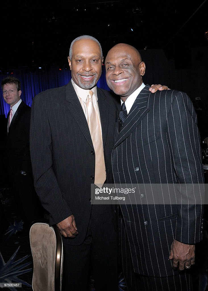 Actor James Pickens Jr. and comedian Michael Colyar attend the 11th Annual Children Uniting Nations Oscar Celebration, held at the Beverly Hilton Hotel on March 7, 2010 in Beverly Hills, California.