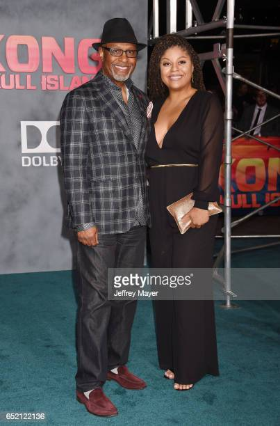 Actor James Pickens Jr and daughter Gavyn Pickens attend the premiere of Warner Bros Pictures' 'Kong Skull Island' at the Dolby Theatre on March 8...