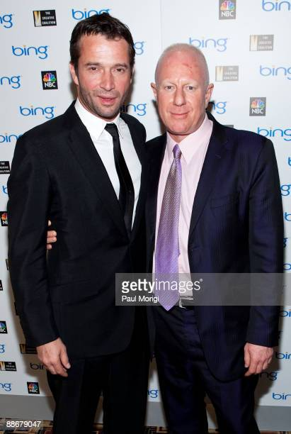 Actor James Purefoy and inspirational character of 'The Philanthropist' Bobby Sager arrive at the premiere of NBC's 'The Philanthropist' hosted by...