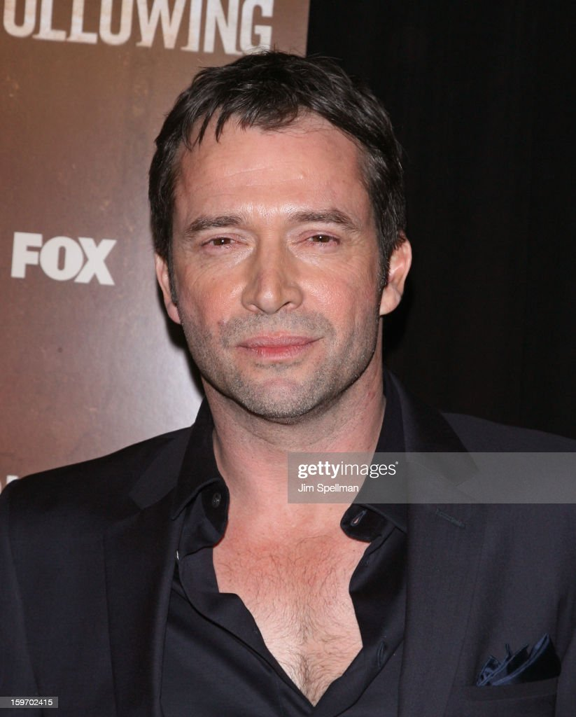Actor James Purefoy attends 'The Following' New York Premiere at New York Public Library - Astor Hall on January 18, 2013 in New York City.