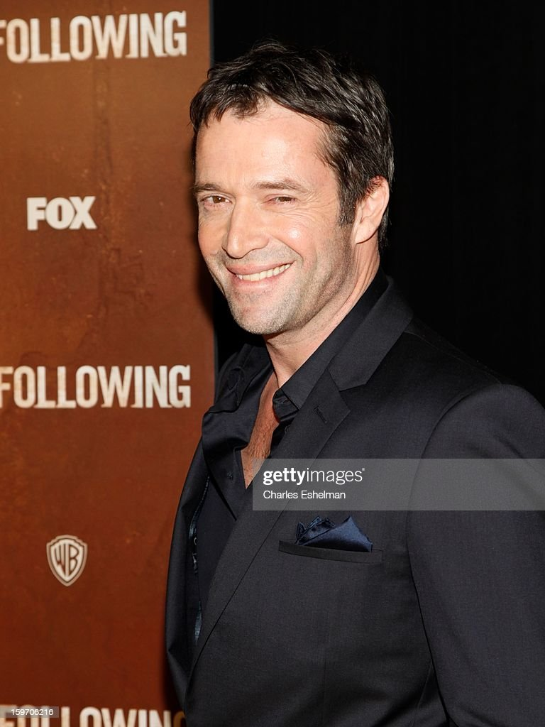 Actor James Purefoy attends 'The Following' premiere at The New York Public Library on January 18, 2013 in New York City.