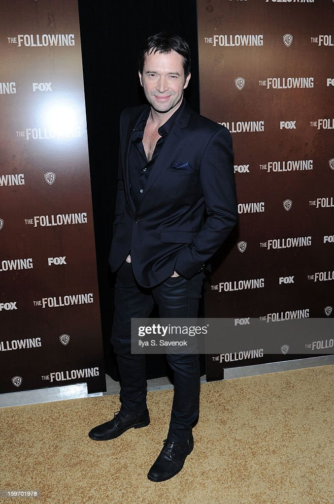 Actor <a gi-track='captionPersonalityLinkClicked' href=/galleries/search?phrase=James+Purefoy&family=editorial&specificpeople=208228 ng-click='$event.stopPropagation()'>James Purefoy</a> attends 'The Following' World Premiere at The New York Public Library on January 18, 2013 in New York City.