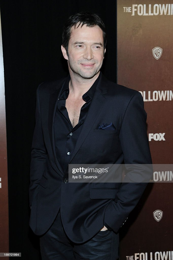 Actor James Purefoy attends 'The Following' World Premiere at The New York Public Library on January 18, 2013 in New York City.