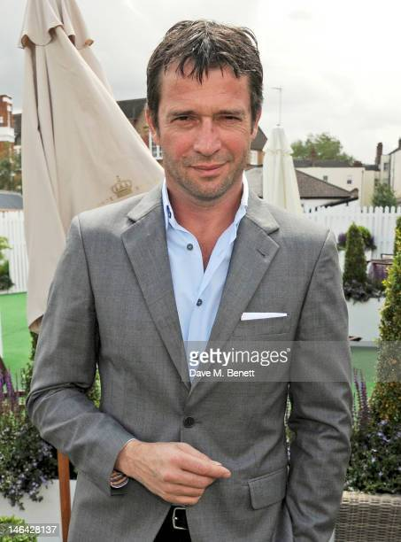 Actor James Purefoy attends the Moet Chandon suite at The Queen's Club Tennis Championships on June 16 2012 in London England