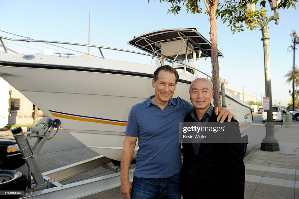 Actor James Remar (L) and C.S. Lee arrive at the premiere screening of Showtime's 'Dexter' Season 8 at Milk Studios on June 15, 2013 in Los Angeles, California.