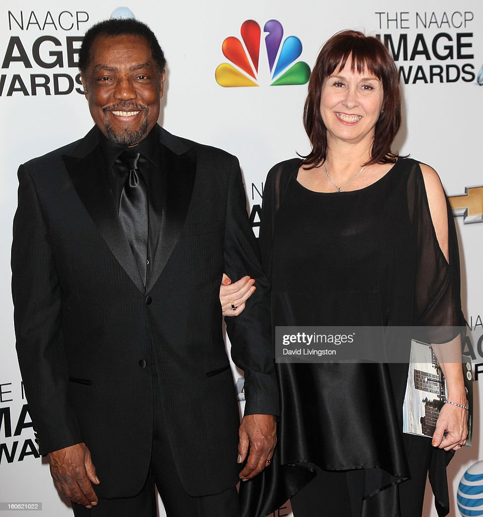 Actor James Reynolds (L) and wife Lissa Layng attends the 44th NAACP Image Awards at the Shrine Auditorium on February 1, 2013 in Los Angeles, California.