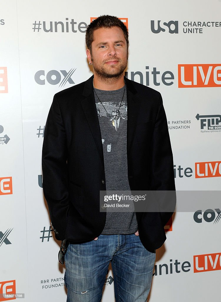 Actor James Roday arrives at the 'UniteLIVE: The Concert to Rock Out Bullying' at the Thomas & Mack Center on October 3, 2013 in Las Vegas, Nevada.